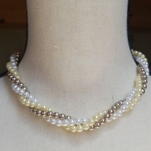 Vintage AVON Triple Strand Faux Pearl Necklace